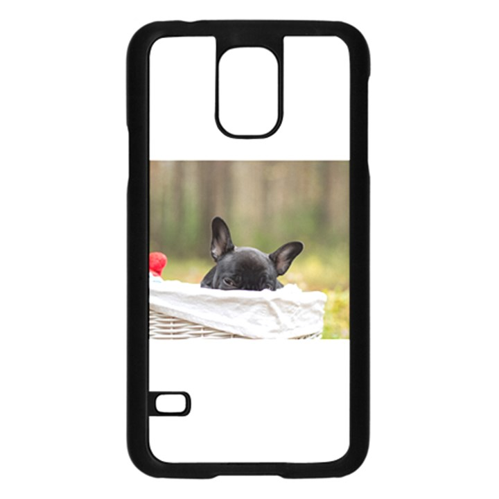French Bulldog Peeking Puppy Samsung Galaxy S5 Case (Black)