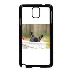 French Bulldog Peeking Puppy Samsung Galaxy Note 3 Neo Hardshell Case (Black)