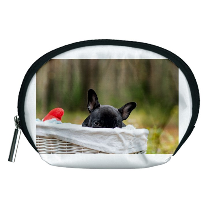 French Bulldog Peeking Puppy Accessory Pouches (Medium)