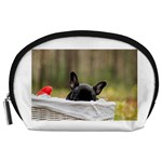 French Bulldog Peeking Puppy Accessory Pouches (Large)  Front