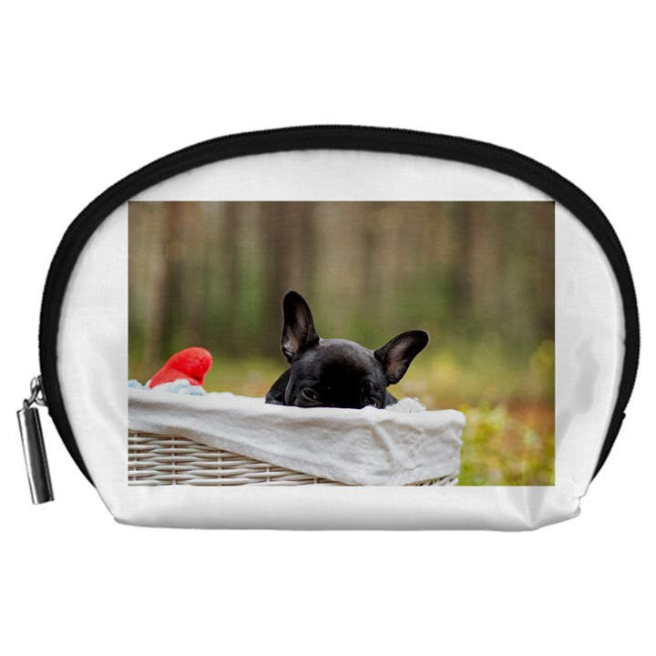 French Bulldog Peeking Puppy Accessory Pouches (Large)