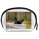French Bulldog Peeking Puppy Accessory Pouches (Large)  Back