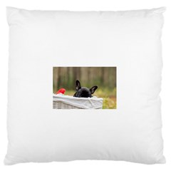 French Bulldog Peeking Puppy Large Flano Cushion Case (two Sides)