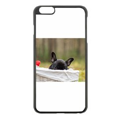 French Bulldog Peeking Puppy Apple iPhone 6 Plus/6S Plus Black Enamel Case