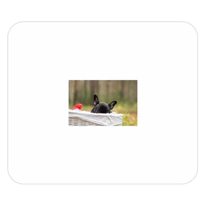 French Bulldog Peeking Puppy Double Sided Flano Blanket (Small)