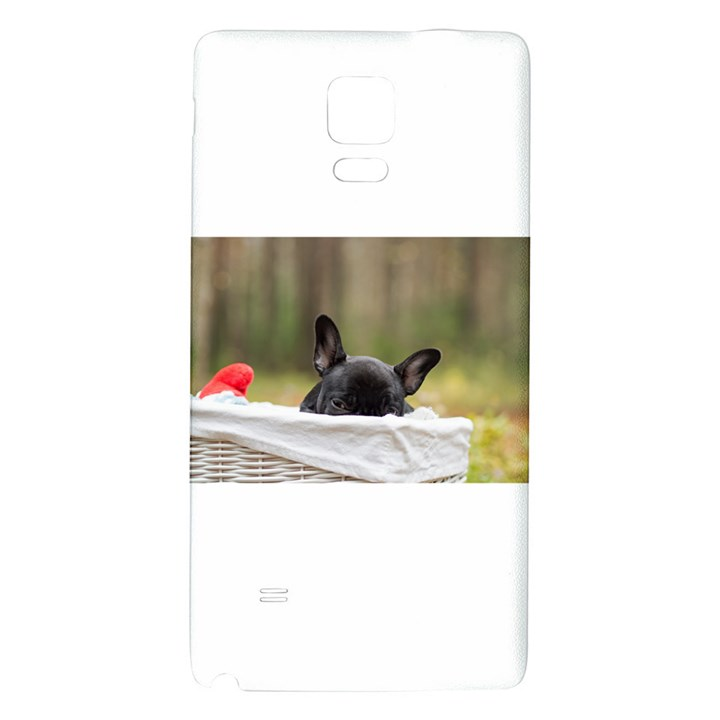 French Bulldog Peeking Puppy Galaxy Note 4 Back Case