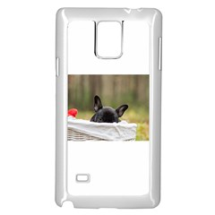 French Bulldog Peeking Puppy Samsung Galaxy Note 4 Case (White)