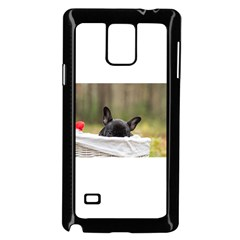 French Bulldog Peeking Puppy Samsung Galaxy Note 4 Case (Black)