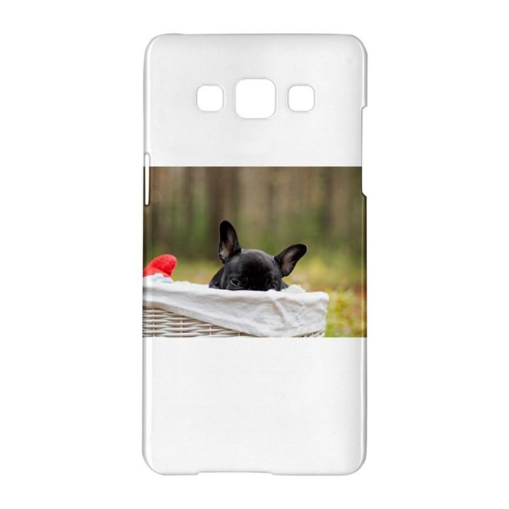 French Bulldog Peeking Puppy Samsung Galaxy A5 Hardshell Case
