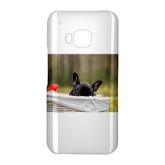 French Bulldog Peeking Puppy HTC One M9 Hardshell Case