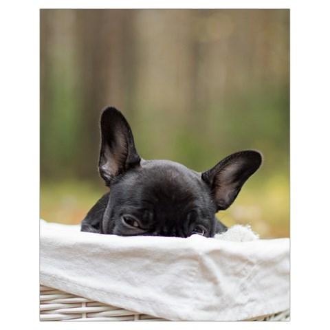French Bulldog Peeking Puppy Drawstring Bag (Small)