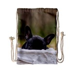 French Bulldog Peeking Puppy Drawstring Bag (Small) Back