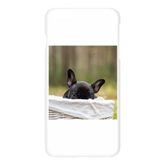 French Bulldog Peeking Puppy Apple Seamless iPhone 6 Plus/6S Plus Case (Transparent)
