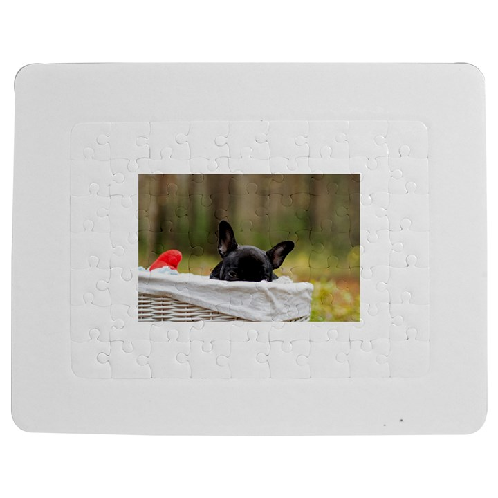 French Bulldog Peeking Puppy Jigsaw Puzzle Photo Stand (Rectangular)