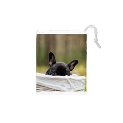 French Bulldog Peeking Puppy Drawstring Pouches (XS)