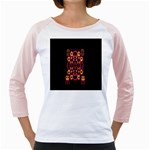 Alphabet Shirt Girly Raglans Front