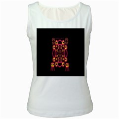 Alphabet Shirt Women s White Tank Top