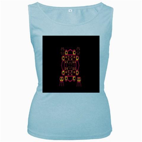 Alphabet Shirt Women s Baby Blue Tank Top
