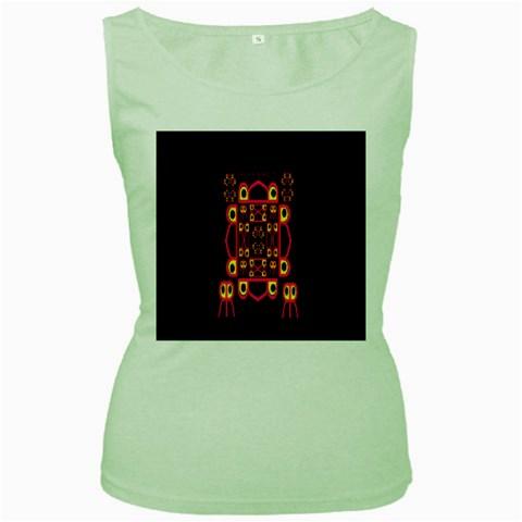 Alphabet Shirt Women s Green Tank Top