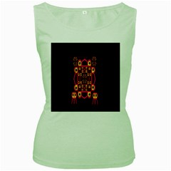 Alphabet Shirt Women s Green Tank Top