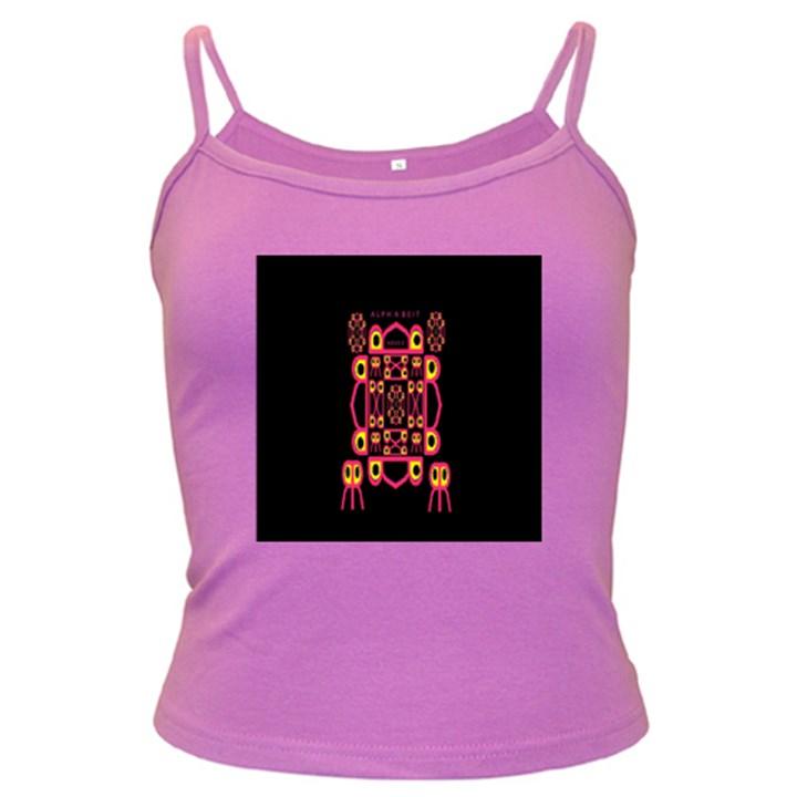 Alphabet Shirt Dark Spaghetti Tank