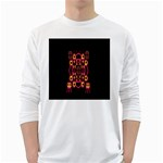 Alphabet Shirt White Long Sleeve T-Shirts Front