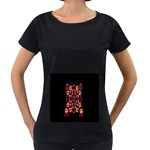 Alphabet Shirt Women s Loose-Fit T-Shirt (Black) Front