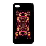 Alphabet Shirt Apple iPhone 4/4s Seamless Case (Black) Front
