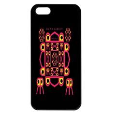 Alphabet Shirt Apple Iphone 5 Seamless Case (black)