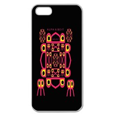 Alphabet Shirt Apple Seamless iPhone 5 Case (Clear)