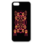 Alphabet Shirt Apple Seamless iPhone 5 Case (Clear) Front