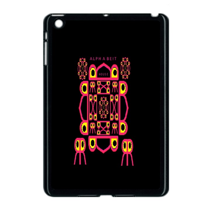 Alphabet Shirt Apple iPad Mini Case (Black)