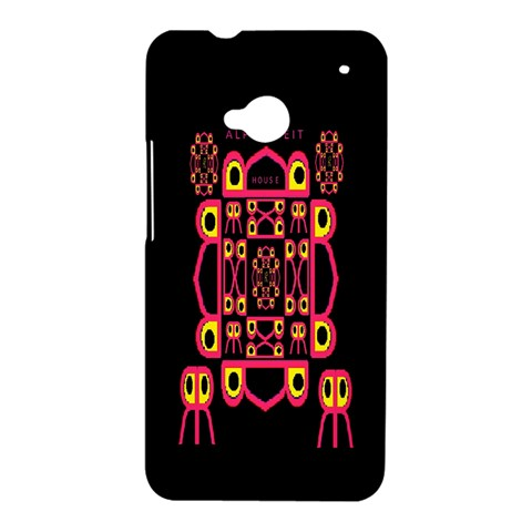 Alphabet Shirt HTC One M7 Hardshell Case