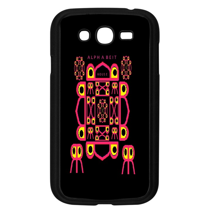 Alphabet Shirt Samsung Galaxy Grand DUOS I9082 Case (Black)