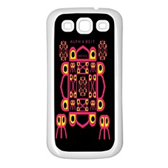 Alphabet Shirt Samsung Galaxy S3 Back Case (white)