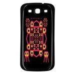 Alphabet Shirt Samsung Galaxy S3 Back Case (Black) Front