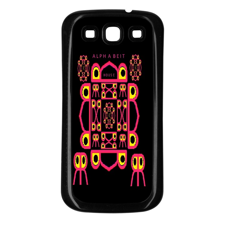 Alphabet Shirt Samsung Galaxy S3 Back Case (Black)