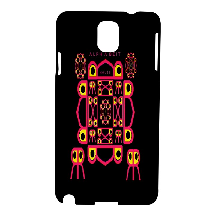 Alphabet Shirt Samsung Galaxy Note 3 N9005 Hardshell Case