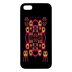 Alphabet Shirt iPhone 5S/ SE Premium Hardshell Case
