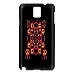 Alphabet Shirt Samsung Galaxy Note 3 N9005 Case (Black) Front
