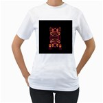 Alphabet Shirt Women s T-Shirt (White)  Front