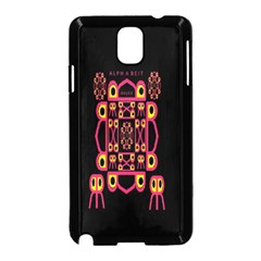 Alphabet Shirt Samsung Galaxy Note 3 Neo Hardshell Case (Black)