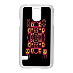 Alphabet Shirt Samsung Galaxy S5 Case (White) Front