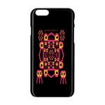 Alphabet Shirt Apple iPhone 6/6S Black Enamel Case Front