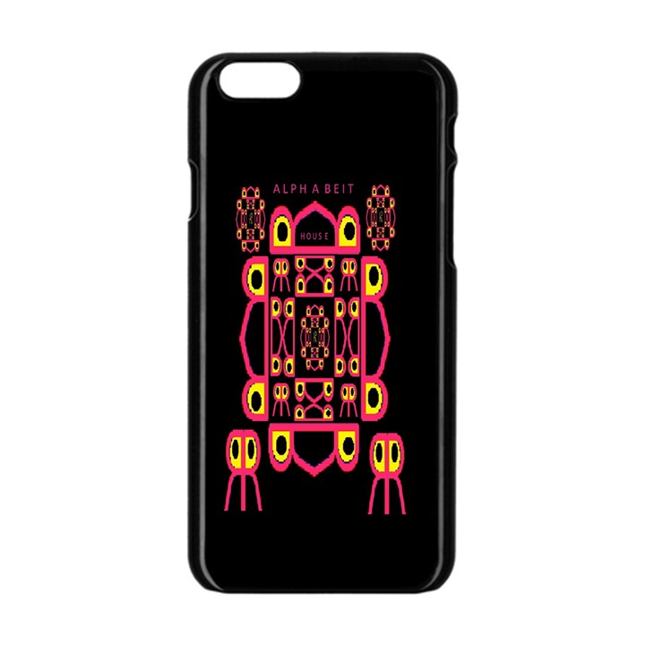 Alphabet Shirt Apple iPhone 6/6S Black Enamel Case