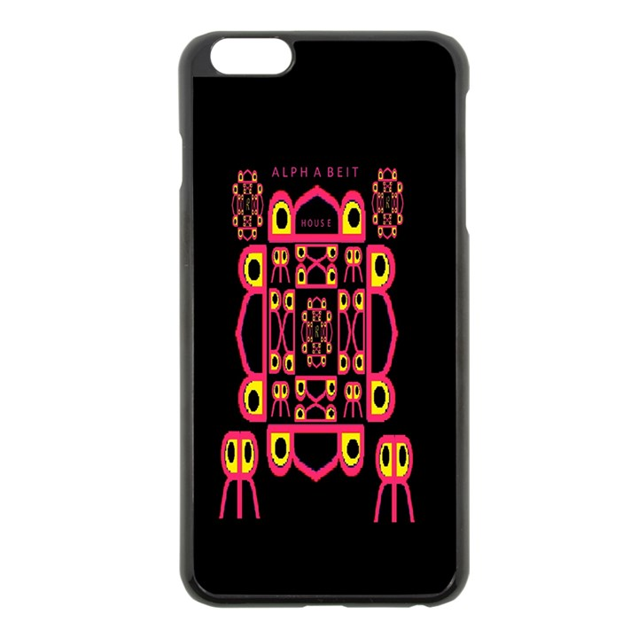 Alphabet Shirt Apple iPhone 6 Plus/6S Plus Black Enamel Case