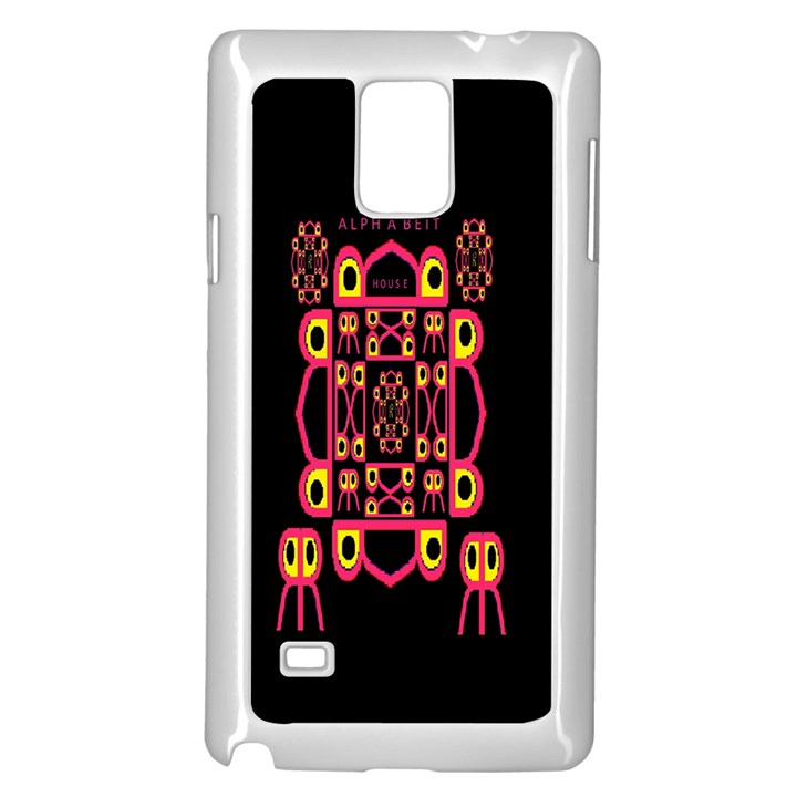 Alphabet Shirt Samsung Galaxy Note 4 Case (White)