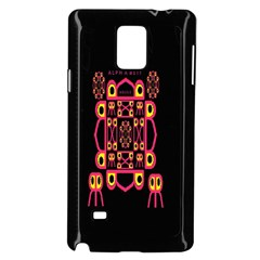 Alphabet Shirt Samsung Galaxy Note 4 Case (Black)