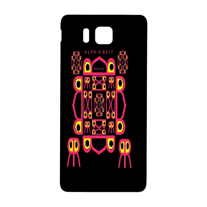 Alphabet Shirt Samsung Galaxy Alpha Hardshell Back Case