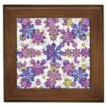 Stylized Floral Ornate Pattern Framed Tiles Front